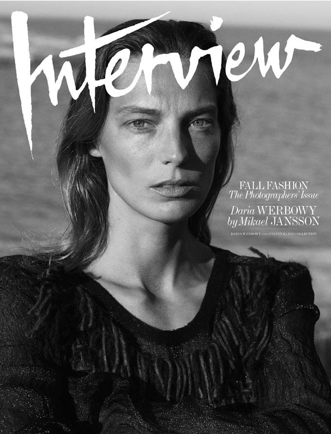 Daria Werbowy for Interview Magazine