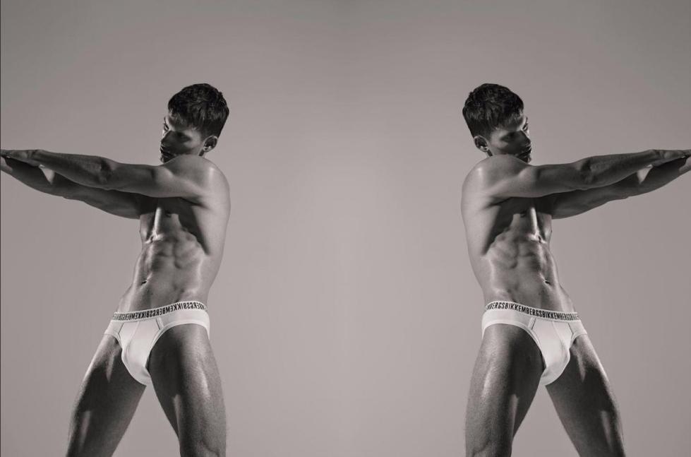 david trulik SS17 Dirk Bikkembers Male Model
